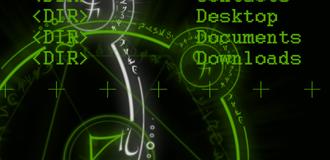 Fake DOS Background