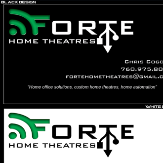 Forte Home Theatres Business Card